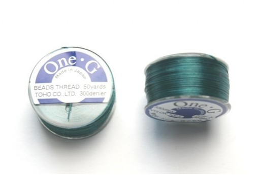 Toho One-G Nylon Thread 0,20mm Dark Green 46m