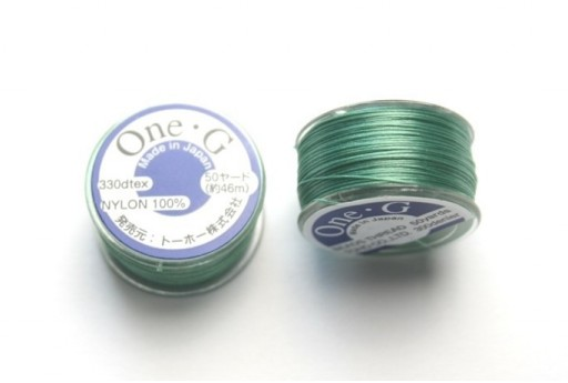 Toho One-G Nylon Thread 0,20mm Mint Green 46m