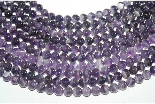 Amethyst Beads Mexican Sphere 8mm - 48pz
