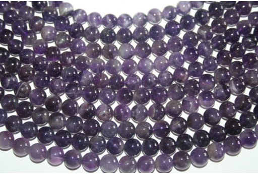 Amethyst Beads Mexican Sphere 10mm - 38pz