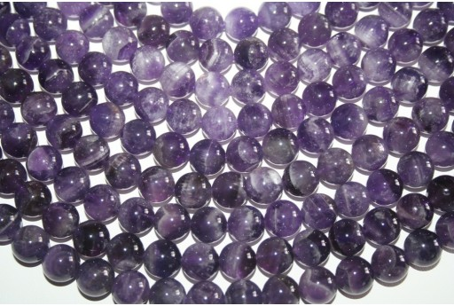Amethyst Beads Mexican Sphere 12mm - 32pz