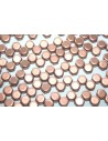 Perline HoneyComb Bronze Copper 6mm - 30pz