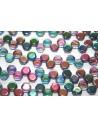HoneyComb Beads Magic Blue-Pink 6mm - 30pcs