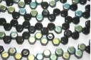 HoneyComb Beads Jet AB 6mm - 30pcs