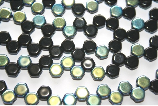 HoneyComb Beads Jet AB 6mm - 30pcs