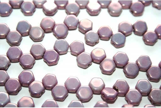 HoneyComb Beads Purple Vega 6mm - 30pcs