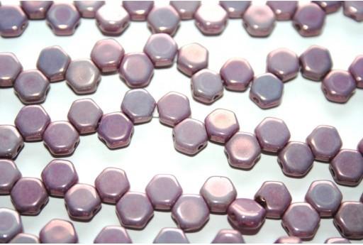 Perline HoneyComb Purple Vega 6mm - 30pz
