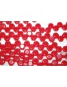 Perline HoneyComb Ruby Transparent 6mm - 30pz