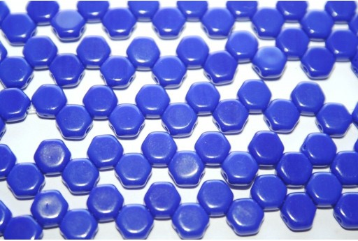 Perline HoneyComb Royal Blue Opaque 6mm - 30pz