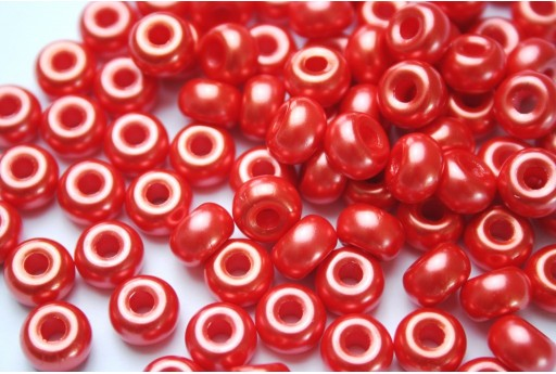 Donut Beads Red 9mm - 20pcs