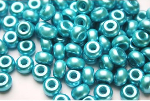 Donut Beads Turquoise 9mm - 20pcs
