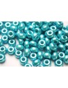 Perline Donut Turquoise 9mm - 20pz