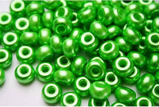 Donut Beads Warm Green 9mm - 20pcs