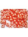 Perline Donut Orange Red 9mm - 20pz