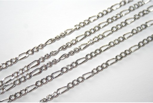 Platinum Plated Steel Chain 3,5x2mm - 50cm