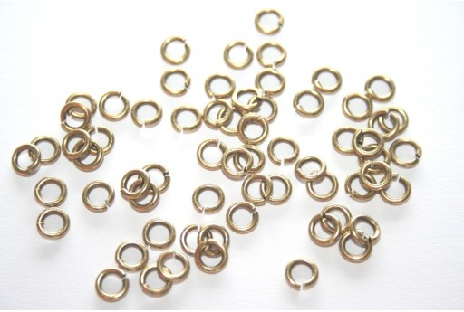 Brass Jump Rings 5mm - 30pcs
