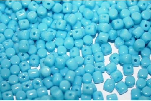 Perline Minos® par Puca® Opaque Turquoise Blue 3x2,5mm - 5gr