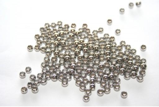 Perline Acciaio Sfere 3x2mm - 12pz