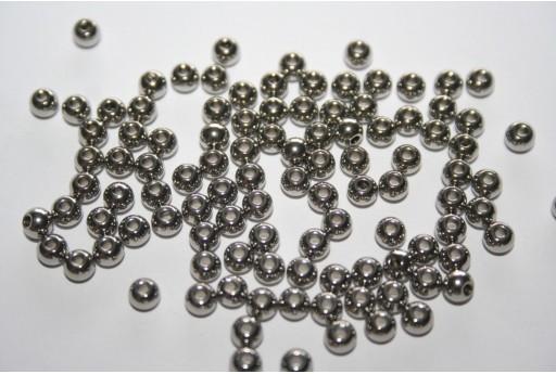 Perline Acciaio Sfere 4x3mm - 12pz