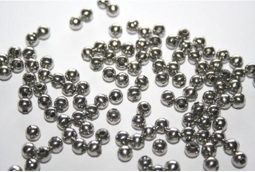 Perline Acciaio Sfere 4mm - 25pz