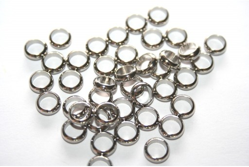 Rondelle Stainless Steel Bead Spacers 7mm - 6pcs