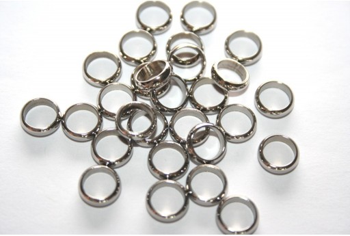 Rondelle Stainless Steel Bead Spacers 8mm - 4pcs