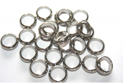 Rondelle Stainless Steel Bead Spacers 10mm - 4pcs