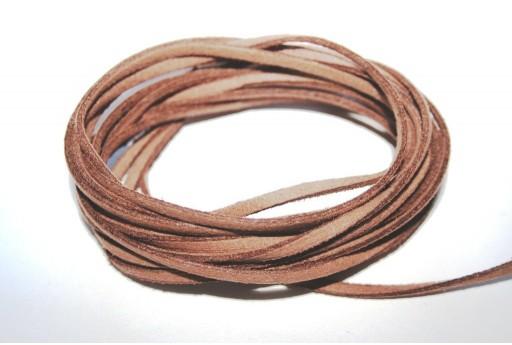 Suede Alcantara Cord Camel 3x1,5mm - 2m