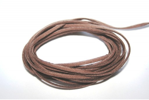 Suede Alcantara Cord Light Brown 3x1,5mm - 2m