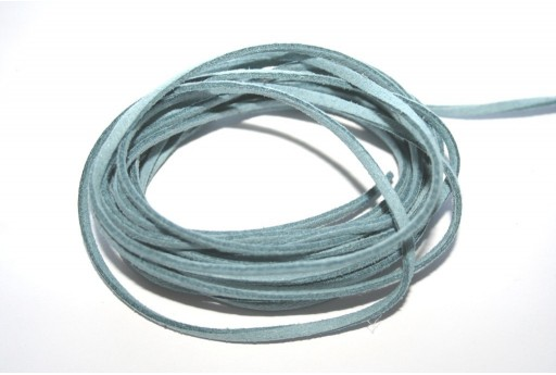 Suede Alcantara Cord Light Steel Blue 3x1,5mm - 2m