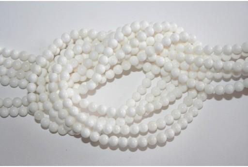 Filo Shell Bianco Sfera 4mm SH19
