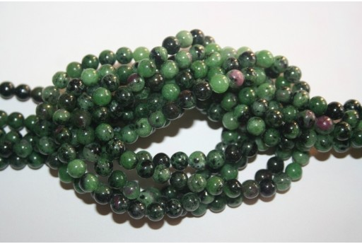 Round Zoisite Beads 6mm - 5pcs
