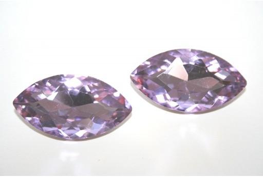Cabochon Navetta Cristallo Violet 17x32mm - 1pz