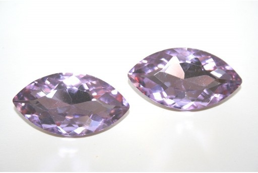 Glass Cabochon Violet 17x32mm - 1pz