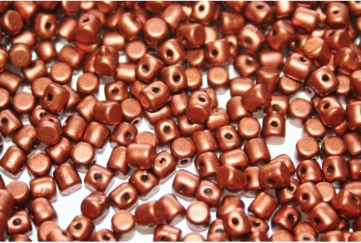Minos® par Puca® Beads Bronze Red Mat 3x2,5mm - 5gr