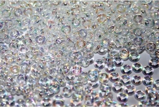 Demi Round Toho Seed Beeds Transparent Rainbow Crystal 8/0 - 10gr