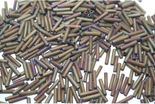 Toho Bugle Beads Matte-Color Iris Brown 9mm - 10gr