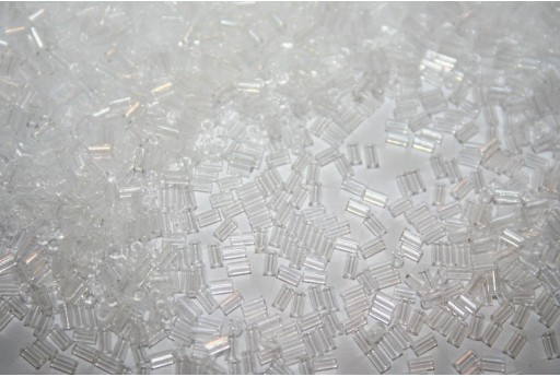 Toho Bugle Beads Crystal 3mm - 10gr
