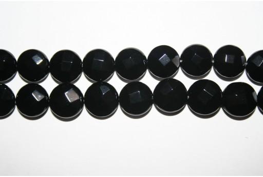 2 Pietre Onice Nero Pasticca Sfaccettata 12mm ONI42A