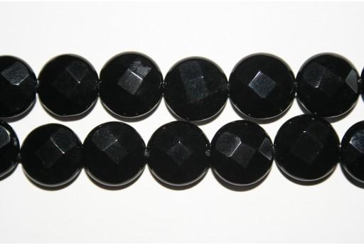 Pietre Onice Nero Pasticca Sfaccettata 14mm - 2pz