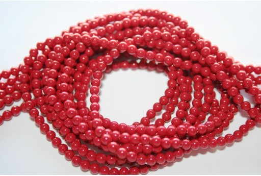 Perle Swarovski 5810 Red Coral 3mm - 20pz