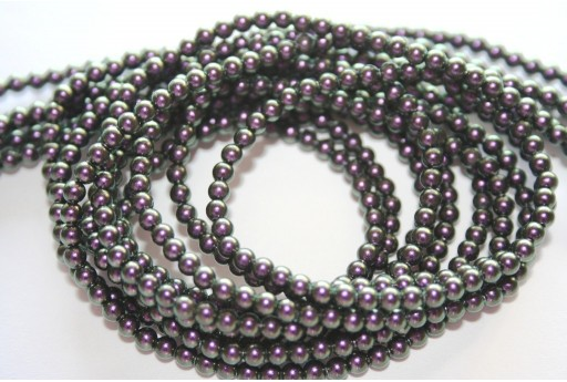 Swarovski Pearls 5810 Iridescent Purple 3mm - 20pcs
