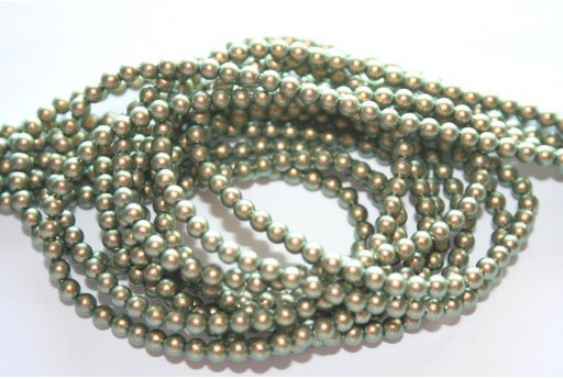 Swarovski Pearls 5810 Iridescent Green 3mm - 20pcs