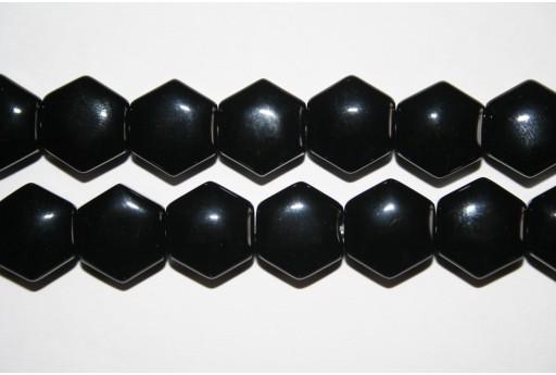 4 Pietre Onice Nero Esagono 12mm ONI48A