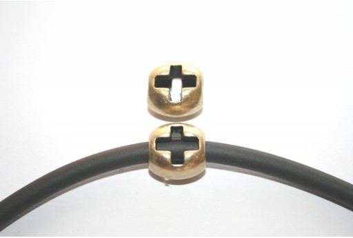 Bronze Cross Spacer Charm Bead 15x14mm - 1pc