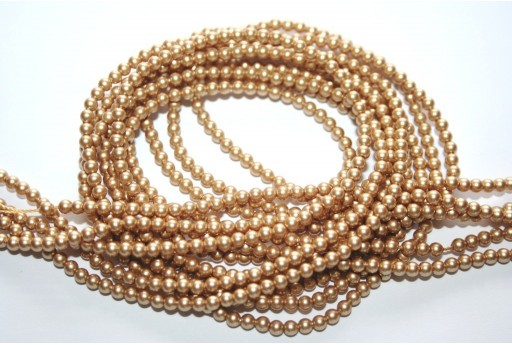 Swarovski Pearls 5810 Vintage Gold 3mm - 20pcs