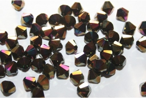 Bicono Swarovski Rainbow Dark 2x 5328 6mm - 6pz
