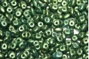 Perline Superduo Gold Shine-Green 5x2,5mm - 10gr