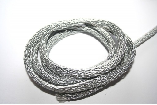 Polyesteric Braided Cord Grey 4x7mm - 50cm