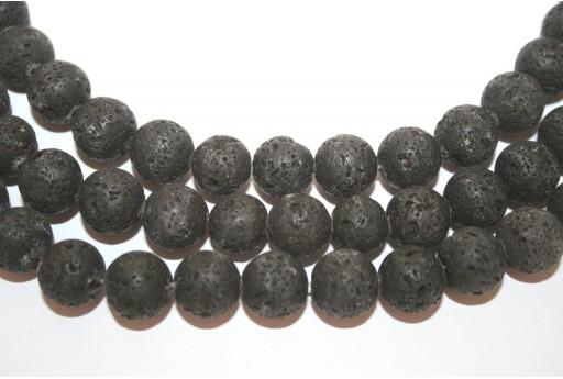Filo Lava Nera Sfera 12mm